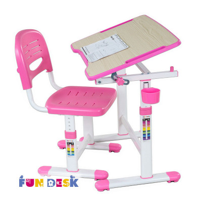 Комплект детская парта + стул Fun Desk Piccolino II розовый