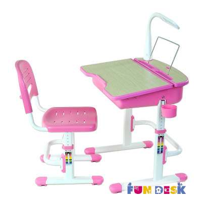 Комплект детская парта + стул Fun Desk Capri розовый